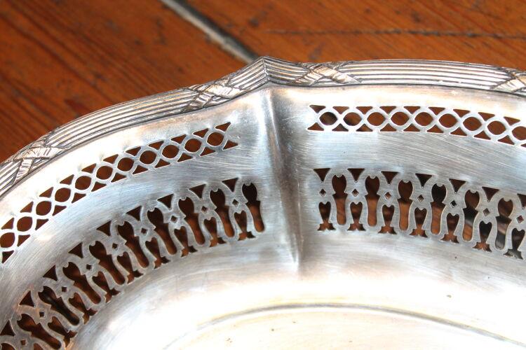 Corbeille à pain métal argenté