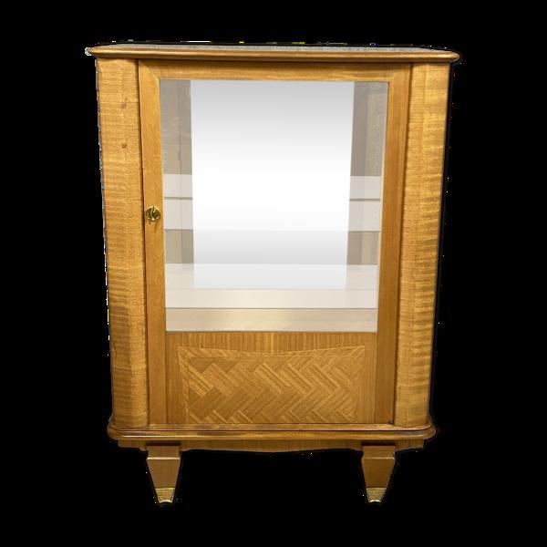 Vitrine époque Art Déco en sycomore et marqueterie de bois noble vers 1925