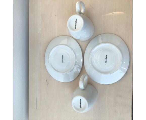 Tasses à café motifs coquelicots