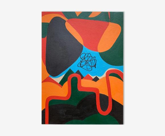 Nuages tombants peinture originale