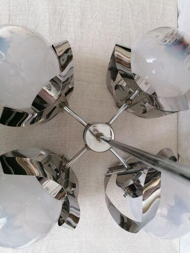 Lustre Mazzega en verre de murano et métal