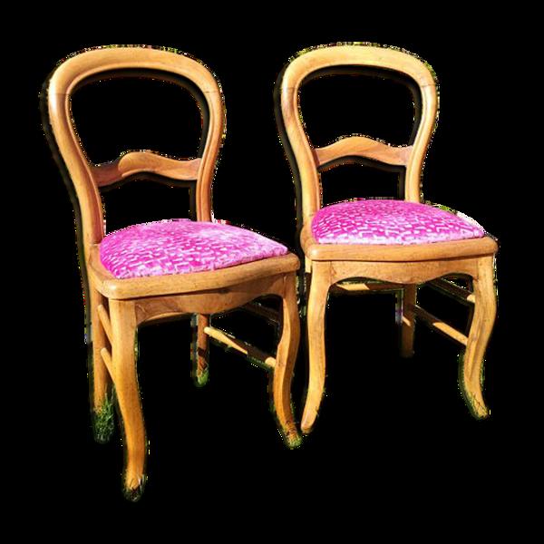 Selency Paire de chaises Louis-Philippe refaites à neuf