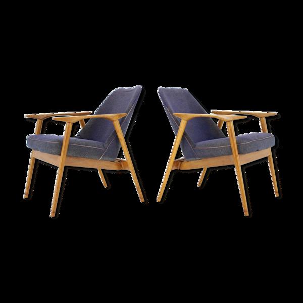 Selency Ensemble de deux fauteuils conçus par Miroslav Navrátil, 1960