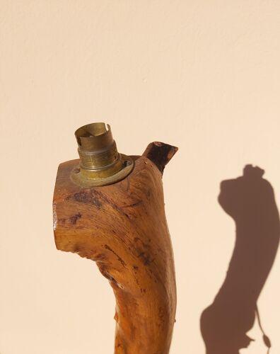 Lampadaire vintage bois d'olivier
