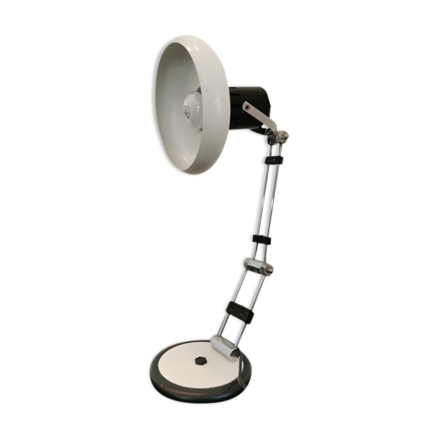 Lampe de bureau blanche année 80 style industriel