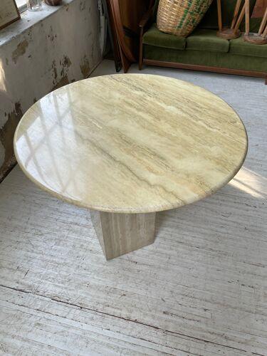 Travertine dining table design 70s