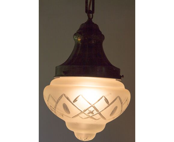 Lamp with bevelled day offal 21 cm diameter