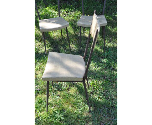Série de quatre chaises vintage Colette Gueden