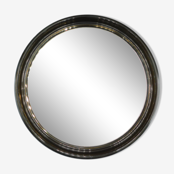 Round wall mirror made of smoked plastic 40cm