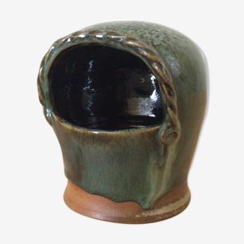 Salt pot in sandstone Puisaye Marina Tellier