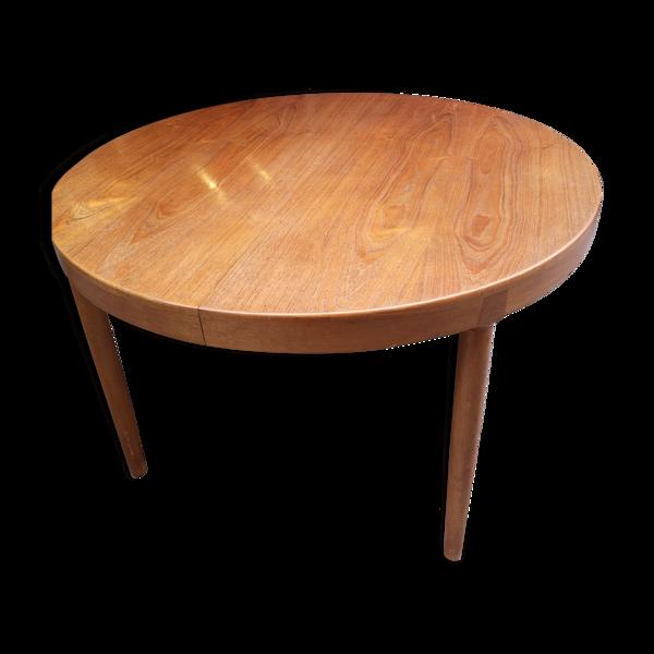 Table ronde vintage Harry Ostergaard pour Randers Mobel fabrik extensible en palissandre années 60