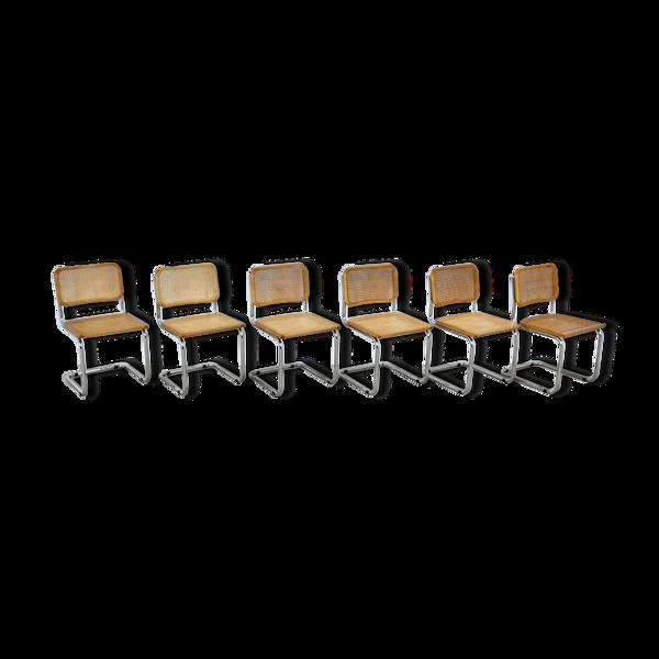 Série de 6 chaises B32 par Marcel Breuer