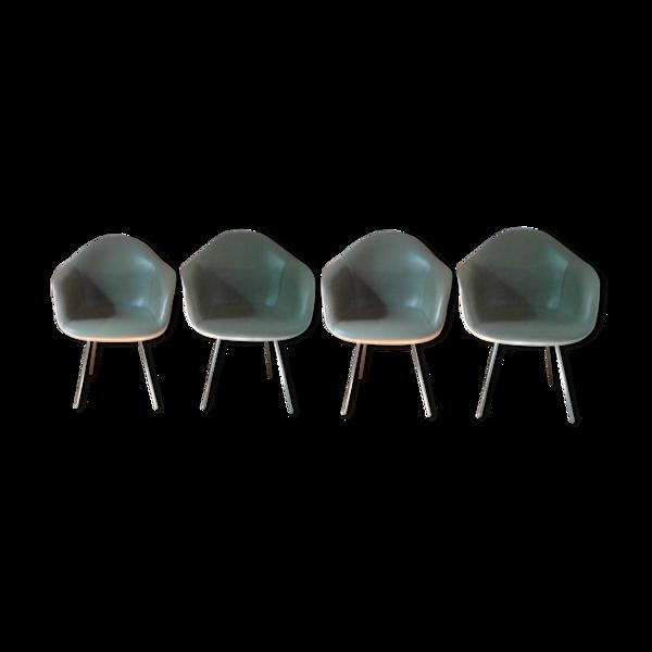 Set de 4 fauteuils charles Eames édition Herman Miller 1948/1950