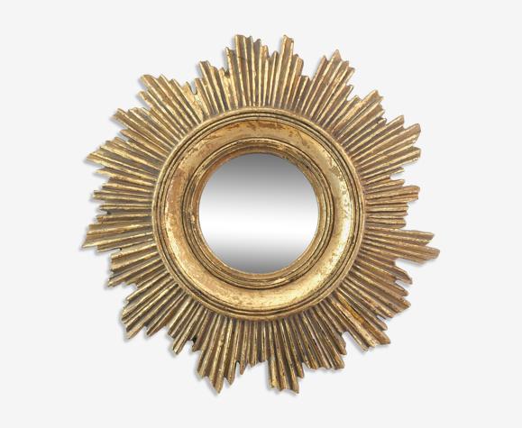 Miroir soleil doré 44cm