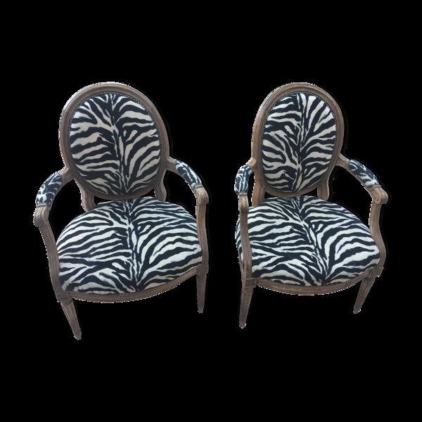 Selency Paire de fauteuils époque Louis XVI