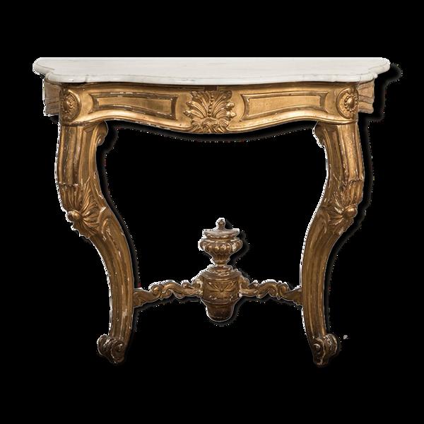Selency Console Louis XV en bois doré