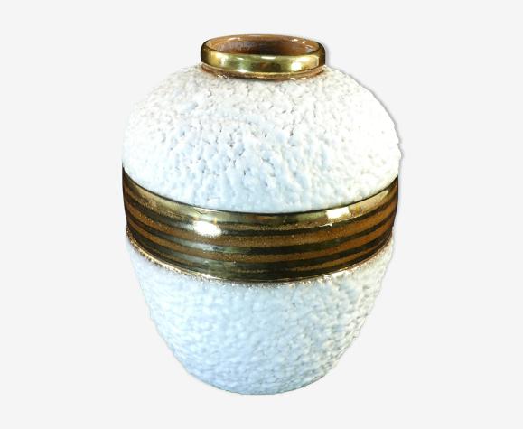 Vase art deco en ceramique signé Louis Dage