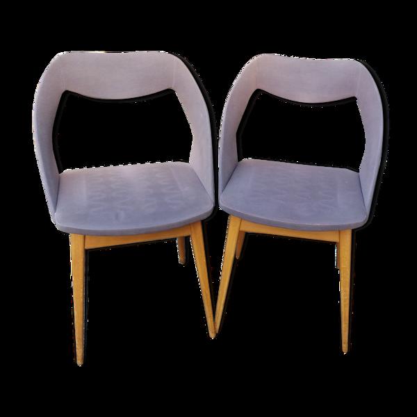 Paire de chaises tonneaux