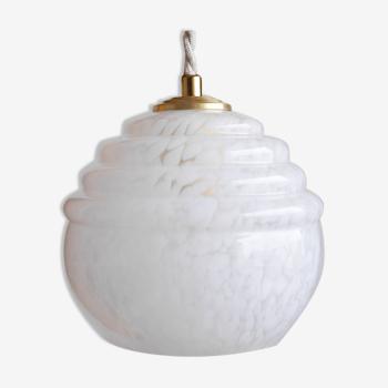 Lampe baladeuse en verre de Clichy