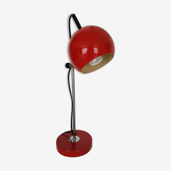 Lampe de bureau eyeball rouge vintage