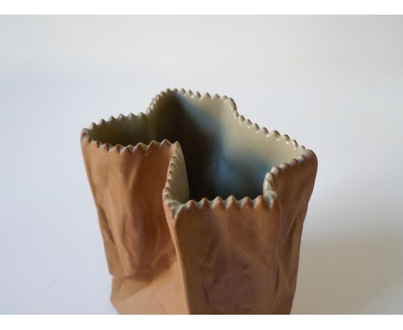 Vase «Paper Bag» de Tapio Wirkkala pour Rosenthal, vers 1977