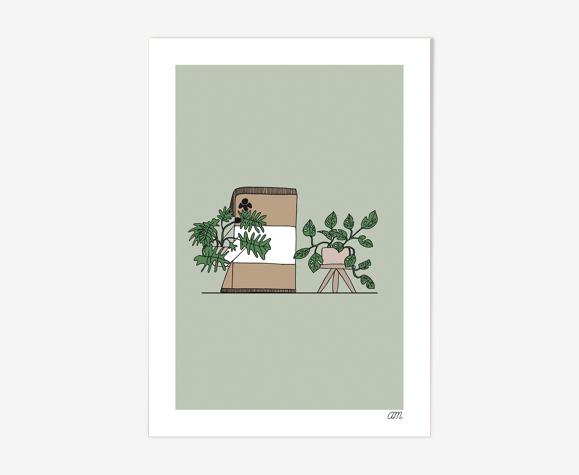 """Illustration """" La Cailloute et les plantes """""""