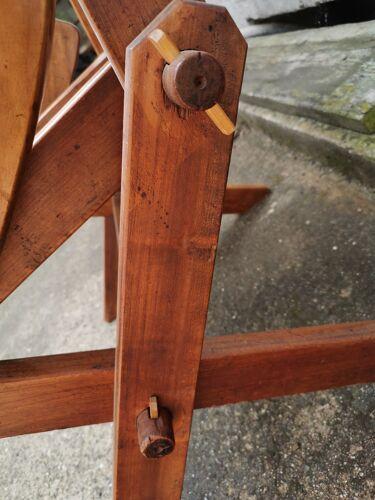 Fauteuils de terrasse en merisier massif année 60-70