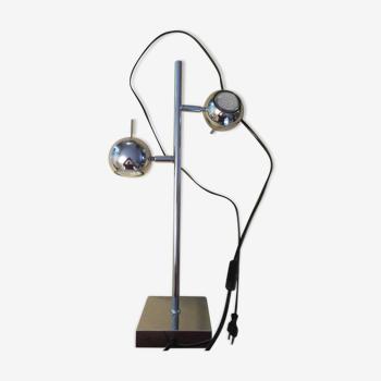 Lampe pivotante Seylumiere à deux lumières modèle hary en métal chromé h: 52 cm