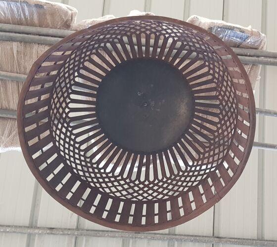 Wrought iron open metal suspension