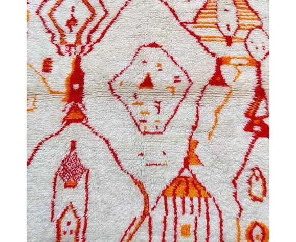 Tapis berbere azilal orange 145x230 cm