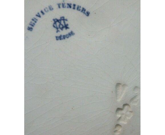 Assiette Creil Montereau modèle Téniers, N1