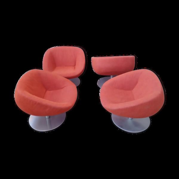 Suite de 4 fauteuils Andrew World