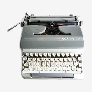 Machine à écrire Torpedo 18 S grise révisée ruban neuf 1961