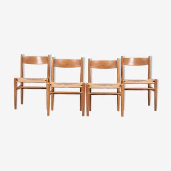 4 chaises «CH36» des années 1950 par Hans J. Wegner pour Carl Hansen, Danemark
