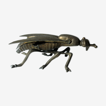 Cendrier en forme d'insecte, en métal et laiton, Vintage des années 1960