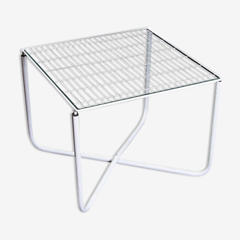 Table jarpen blanche postmoderne par niels gammelgaard pour ikea, 1983