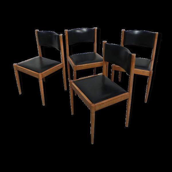 4 chaises vintage en skai