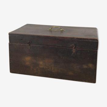 Boîte en bois acajou