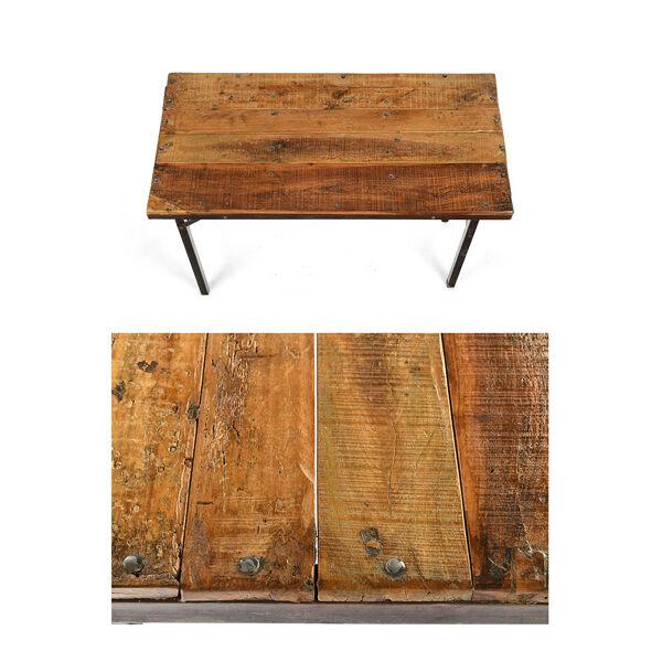 Bureau pliant en bois avec pieds en fer
