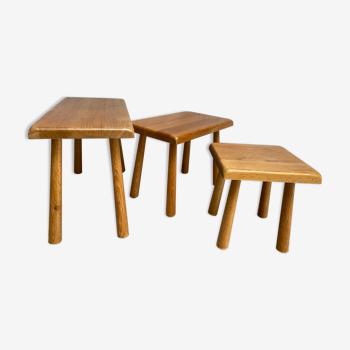 Three pull-out tables - Meublefabriek Oisterwijk