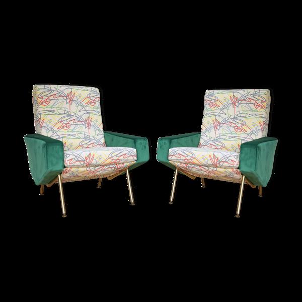 Paire de fauteuils Troïka édités par Airborne, revisités