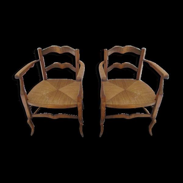 Deux chaises Louis-Philippe