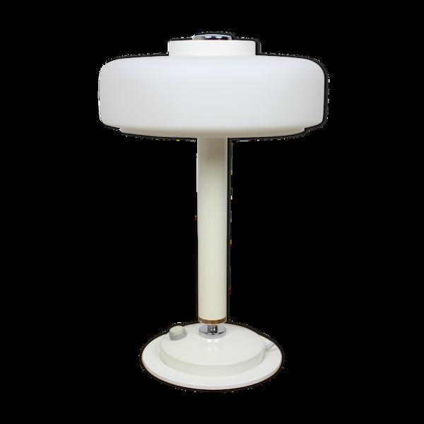 Lampe de table blanche rare du milieu du siècle / Napako, années 1960
