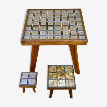 Set of 3 pull-out tables