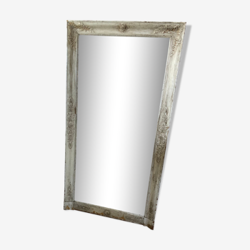 Miroir en bois patiné fin XIXème - 140x80cm