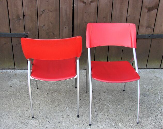 Paire de chaises Calligaris italiennes années 1990