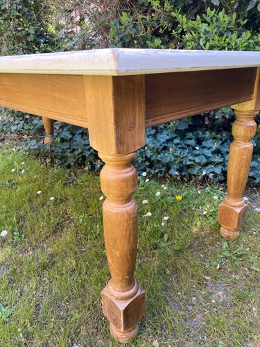 Table de ferme vintage chêne 180cm