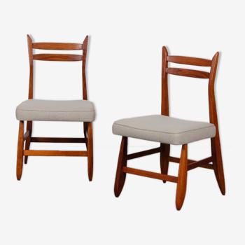 Paire de chaises par Guillerme et Chambron pour Votre Maison, 1960