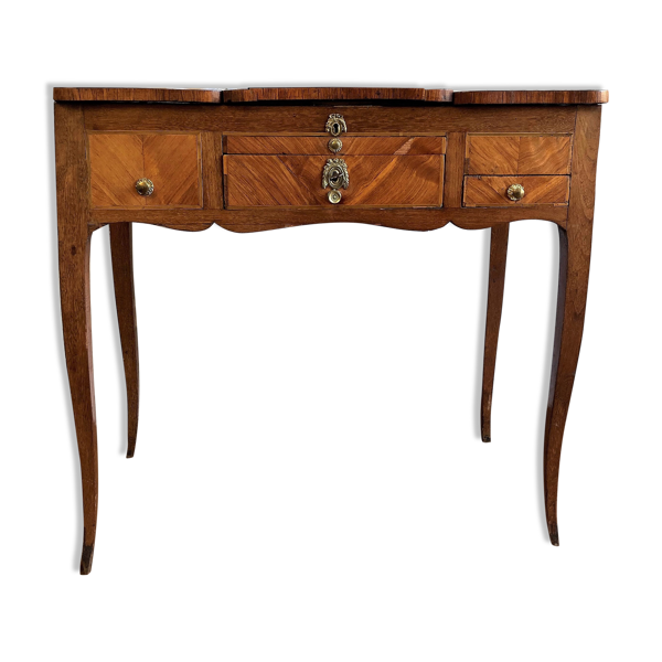 Selency Coiffeuse du XVIIIe siècle estampillée en marqueterie de bois de rose