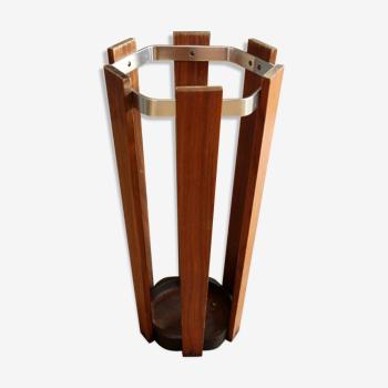 Support de parapluie, en bois et métal, millésime des années 1970